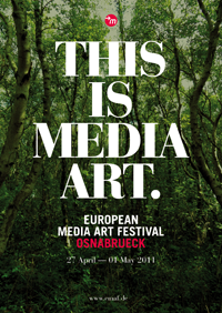 24. EUROPEAN MEDIA ART FESTIVAL Plakat Artwork