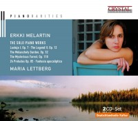 ERKKI MELARTIN THE SOLO PIANO WORKS MARIA LETTBERG Cd Cover