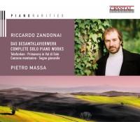 RICCARDO ZANDONAI DAS GESAMTKLAVIERWERK CD Cover Artwork