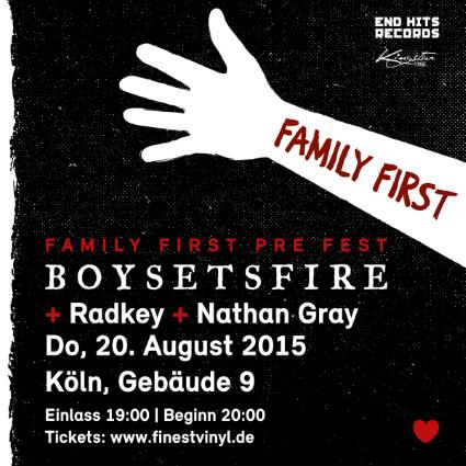 BOYSETSFIRE - Family First Pre-Fest 20.08.2015