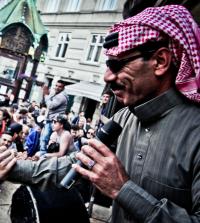 Syriens wahrscheinlich erfolgreichster Musikexport, Sänger Omar Souleyman,