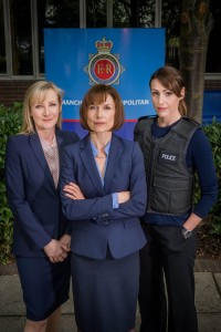 RED PRODUCTIONS PRESENTS FOR ITV SCOTT AND BAILEY  SERIES 4 EPISODE 1 JANET SCOTT (Lesley Sharp), GILL MURRAY (Amelia Bullmore) and RACHEL BAILEY (Suranne Jones) stand together, mid shot Photographer Ben Blackall. This image is the copyright of ITV and can only be used in relation to Scott and Bailey sees 4.