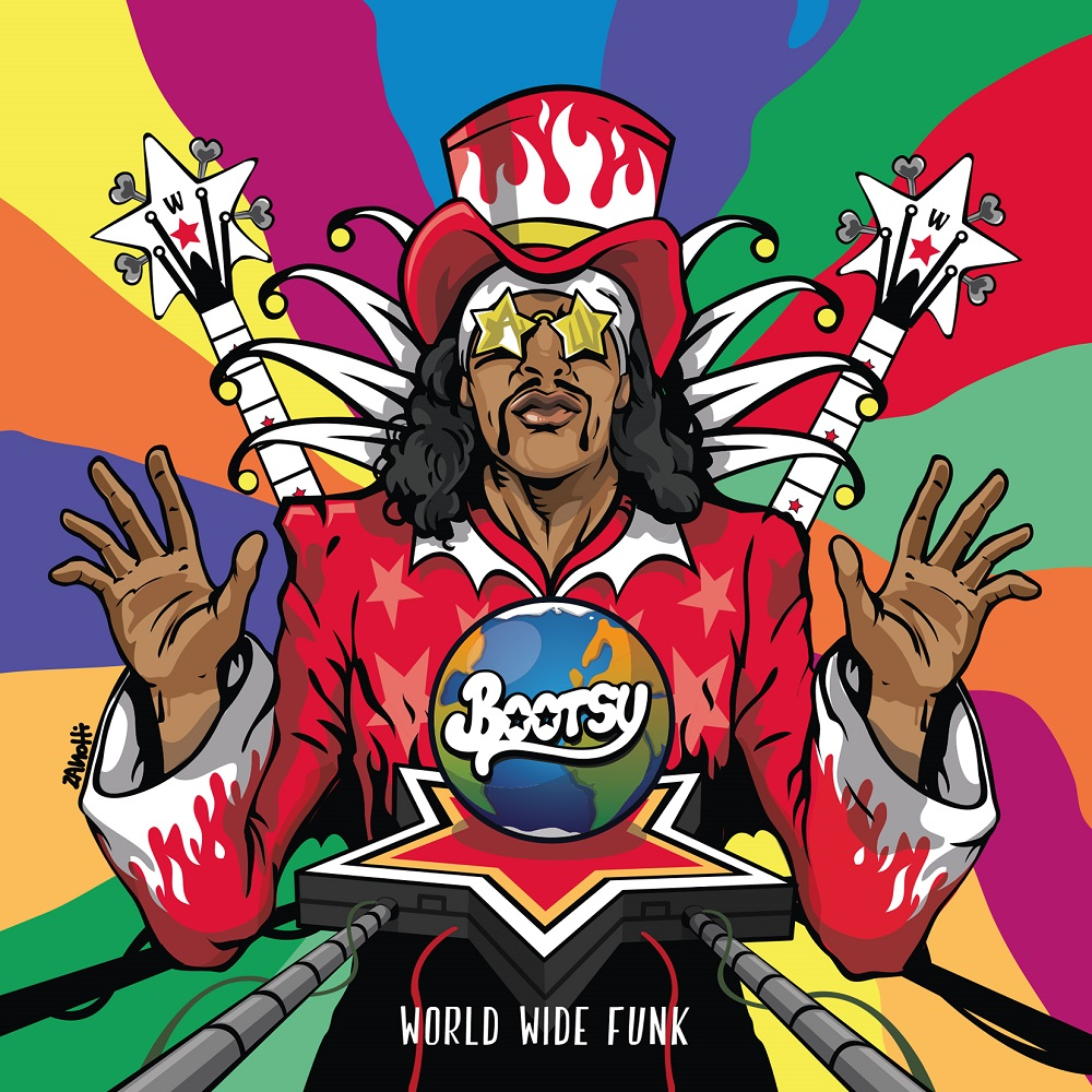 "Bootsy Collins ""World Wide Funk"" VÖ: 27.10.2017 durch Mascot Records / Mascot Label Group / Rough Trade als CD, 2LP und Digital"