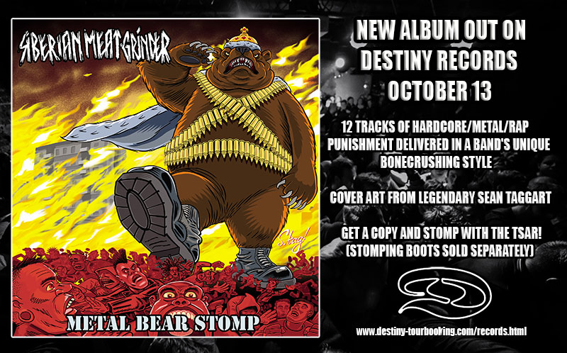 "Siberian Meat Grinder's Album ""METAL BEAR STOMP"""