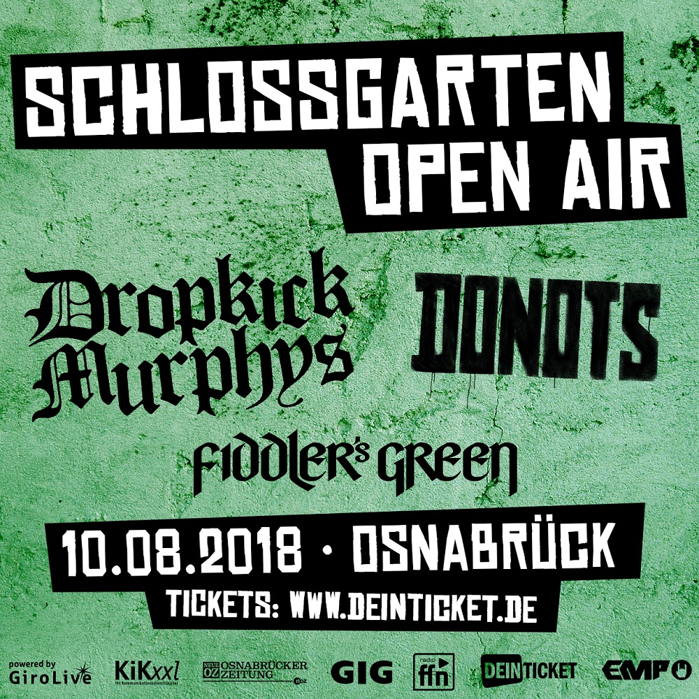 Schlossgarten Open Air 2018 - Line Up mit Fiddler's Green jetzt komplett!