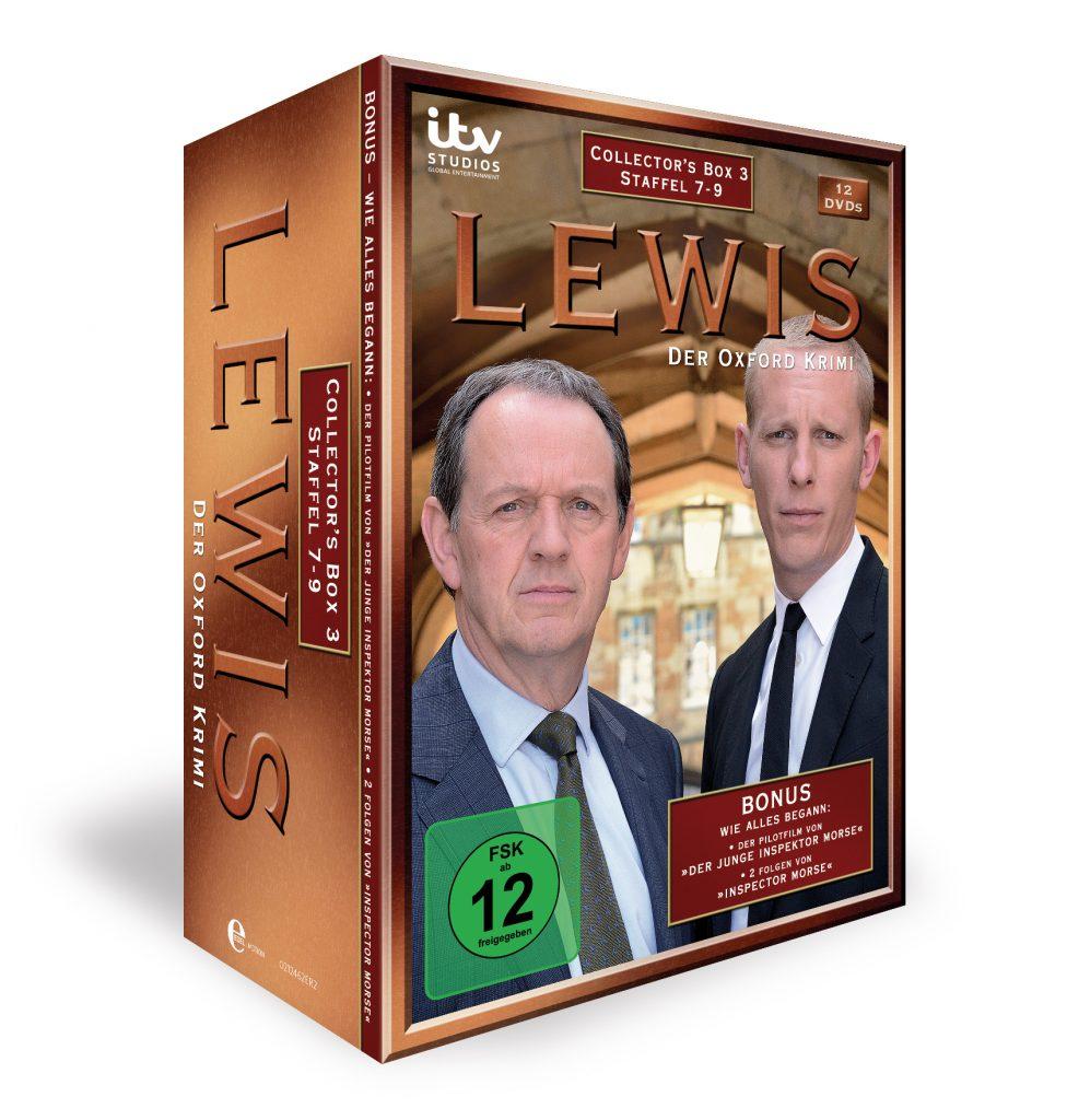 """Neue Sammlerbox für lange Nächte mit """"LEWIS – DER OXFORD-KRIMI"""" 12 DVDs mit mitreißenden Fällen in der Originalkulisse der britischen Universitätsstadt"""