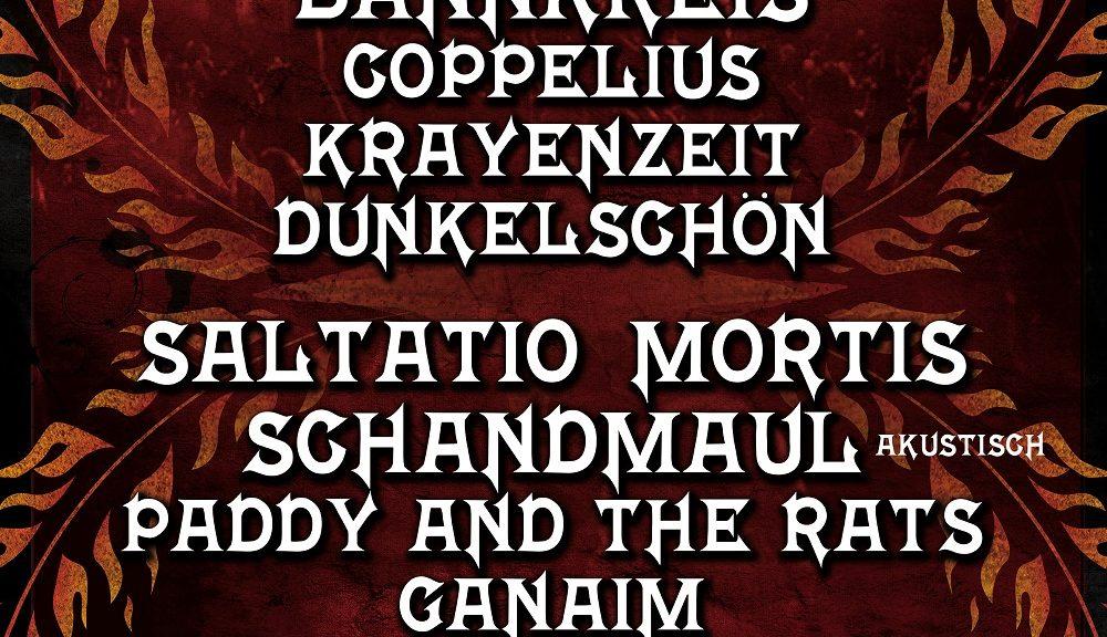 15. FEUERTAL FESTIVAL - Line Up im Jubiläumsjahr bestätigt - am 17. Und 18. August erwacht das Mittelalter wieder in Wuppertal!