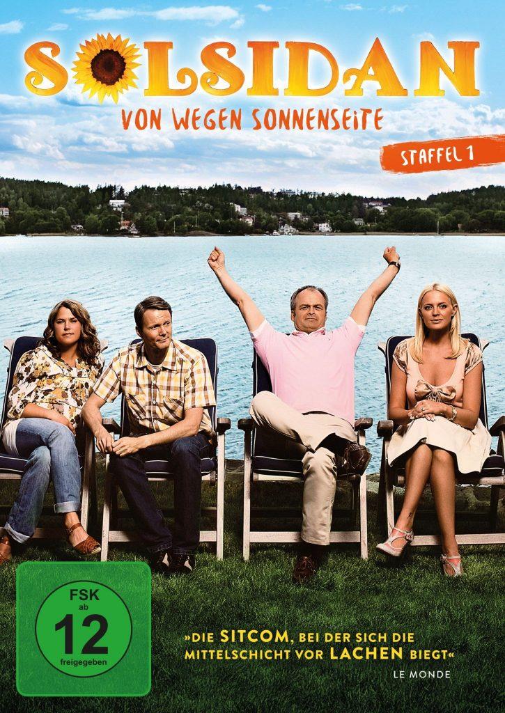 """1. Staffel der skurrilen Comedyserie Solsidan (dt. """"Sonnenseite"""") (2 DVDs; VÖ: 24.08.2018; Edel:Motion)"""