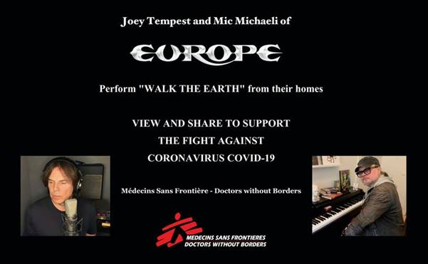 "JOEY TEMPEST & MIC MICHAELI / EUROPE - Neues Video ""Walk The Earth"""