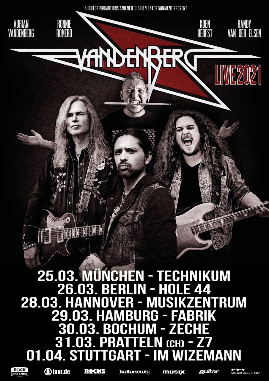 Shooter Promotions proudly presents... Vandenberg Live 2021